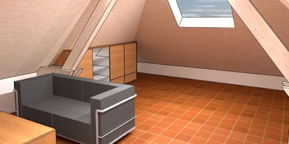 raumwunder | Umgestaltung Dachzimmer mit TV Möbel | Neugestaltung