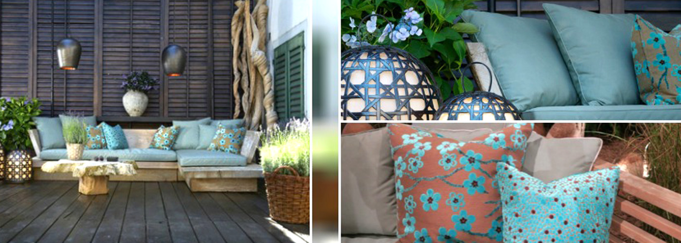 raumwunder | draussen träumen auf Terrasse und Balkon | Kissen
