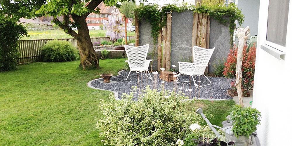 raumwunder   Sichtschutz im Garten   nach der Umgestaltung