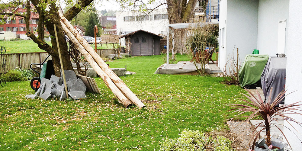 raumwunder   Sichtschutz im Garten   vor der Umgestaltung
