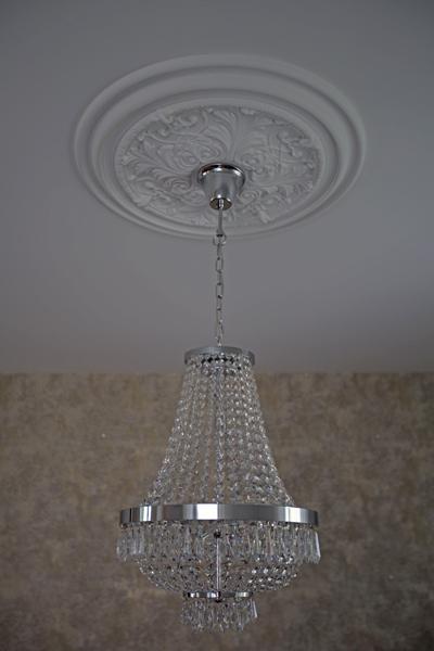 raumwunder | Wohnzimmer vorher - nachher | Kristallleuchte